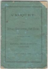 1882 American Croquet Rule Book of National American Croquet Association