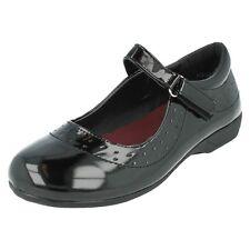 h2337 Spot On De Chica Negro Inteligente Rip CINTA CIERRE Zapatos de colegio