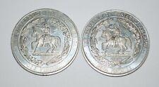 Two Confederate States of America Half Dollar tokens Fantasy Csa Civil War