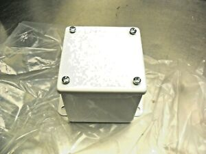"HOFFMAN A4044SC/SPL Enclosure 4""x4""x4"" Powder Coated White NEW"