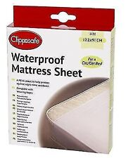 Clippasafe Cot Waterproof Mattress Sheet X2