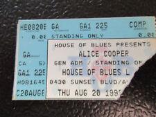 Alice Cooper House of Blues 8/20/1998 Comp ticket stub