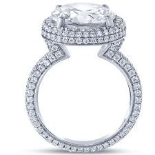 6.10CTW Forever One Moissanite & Diamond Engagement Ring Eternity R12M