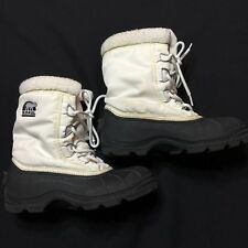 Sorel Boots Womens 6.5 White Black Thinsulate Insulation
