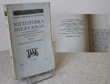 Nietotchka Niezvanov Dostoïevski 1940  édition originale