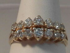 14 Carat Yellow Gold VS2 Fine Diamond Rings