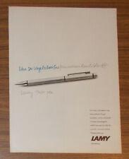 Seltene Werbung LAMY TWIN PEN Kugelschreiber und Druckbleistift in einem #4 1983
