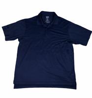 Adidas Golf XL Mens Climalite Relaxed Polo Shirt Navy Blue Short Sleeve NWT