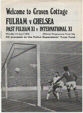 1975-FULHAM V CHELSEA-14/4/75-MID-SEASON FRIENDLY PROGRAMME-PAST V INTERNATIONAL