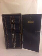 VINTAGE 1917 MINOT'S MICROSCOPE SLIDE STORAGE CABINET METAL DRAWERS