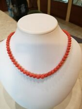collana corallo  rosso chiaro   6/9  mm    gr. 36,30