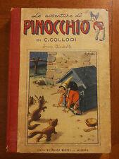 LE AVVENTURE DI PINOCCHIO= 1945= Illustrazioni BIANCHI e tavole SGRILLI = BIETTI