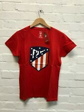 Atletico Madrid CF Women's Club Class Crest T-Shirt - Various Sizes - Red - New