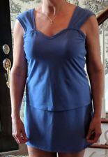 Jerdog SKIRT AND TOP Sleeveless Stretch Tennis Athletic EUC Sz L Periwinkle Blue