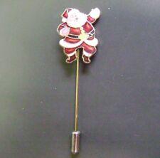1979- Genienna Christmas Enamaled Santa Claus Gold Tone Stick Pin