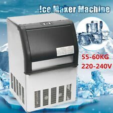 55-60KG Auto Commercial Ice Maker Machine Stainless Steel Cafe Bar 220V AU Plug