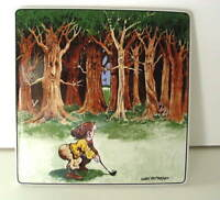 Clay Design Gary Patterson Ceramic Hot Plate Trivet with Golfer Golf NEW