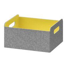 IKEA BESTÅ Box Yellow BESTA STORAGE organise  25 x 31 x 15 cm 503.098.41 UK-ZH