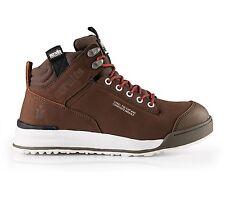 Scruffs Switchback Safety Hiker Work BOOTS Steel Toe Leather Brown 3x Socks Uk9 Eu43