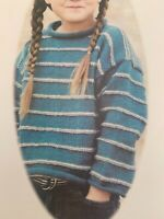 Childs Boys Girls Sweater Jumper Knitting Pattern 24 - 28in DK  BR721