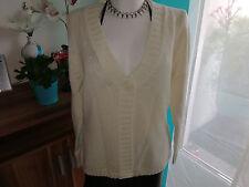 Strickjacke casuel wear beige natur Gr.M/L 38/40/42 schön weich
