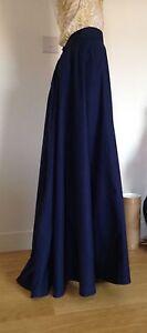 Handmade Victorian style (1890s) Ladies Skirt full length, navy, sizes 4-30, new