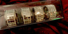 Set of 4 -Pier 1 -Mirrored Napkin Rings /Holders -NWT