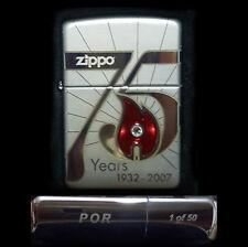 75 th Anniversary POR 1/50 Limited Edition Zippo Lighter Brand New in Orig Box