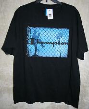 NWT Champion Graphic Crew Tee shirt Black XL mens soft Baseball Field