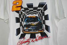 Rusty Wallace Nascar T Shirt Top Miller Ford Thunderbird Racing Car Driver 2 L