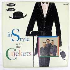 THE CRICKETS - IN STYLE WITH THE LP STEREO CORAL CRL 757320 LP=VG