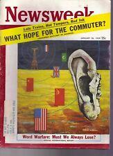 Newsweek: Word Warfare: Must We Alway Lose Jan 26, 1959