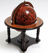"World Globe Table Top Wooden Stand 8.75"" Old World Style Nautical Decor New"