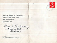 KUT EAST AFRICA 1 OCTOBER 1960 30 CENT DEFINITIVE OVERSIZED FIRST DAY COVER CDS