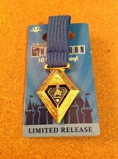 2015 DLR Disneyland runDisney Weekend Half Marathon Medal Pin 10th Anniversary