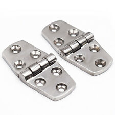 "2PCS Stainless Steel Marine Boat Door Cabin Stamp Strap Hinge 3"" x 1.5"" Newly"