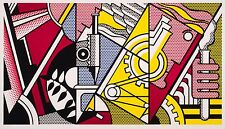 "Roy Lichtenstein ""Peace Through Chemistry"" HD canvas print wall picture 40x24"""
