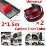 Carbon Fiber Color Wheel Eyebrow Trim Fender Flare Protector Strip 2x3.8cm/1.5M
