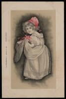 EARLY 1900's VINTAGE VICTORIAN GIRL POSTCARD - C.W. FAULKNER Series 147 - UNUSED