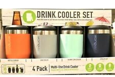 Reduce 4 in 1 Multi-Use Drink Cooler & Cup Set 4 Pack for All Cans & Bottles New