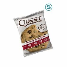 Quest Nutrition Protein Cookie, Chocolate Chip, 15g Protein, 4g Net Carbs, 25...