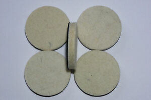 "Thick Polishing Pad Felt 2"" / 50 mm Hook / Loop for Glass Stone Metal etc"
