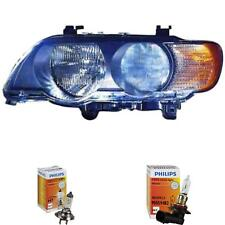 Headlight Left BMW X5 E53 99-03 Lwr With Motor incl. Philips Lamps 1373393