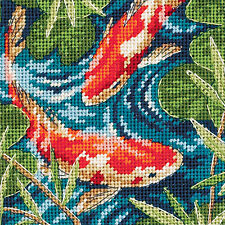 Needlepoint Mini Kit ~ Dimensions Koi Pond Asian Japanese Goldfish #7214