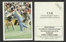AUSTRALIA 1983 SCANLENS CRICKET STICKERS SERIES 2 - VENGSARKER (INDIA) # 114