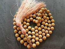 Mysore Sandalwood Mala Prayer Beads Authentic Highest Quality 12 mm Beads with a
