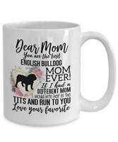 English Bulldog Mom Mug Mother's Day Gift For English Bulldog Lover English