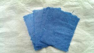 5 pcs Handmade Mulberry Paper/Unryo Blue/ 9x12cm pieces/Deckled edges