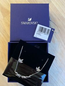 NEW Swarovski Sparkling Crystal Women's Earrings, Necklace Set with Original Box