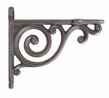 "Pair Small Cast Iron Victorian Bathroom Shelf Brackets Antique Scroll 4"" / 10cm"